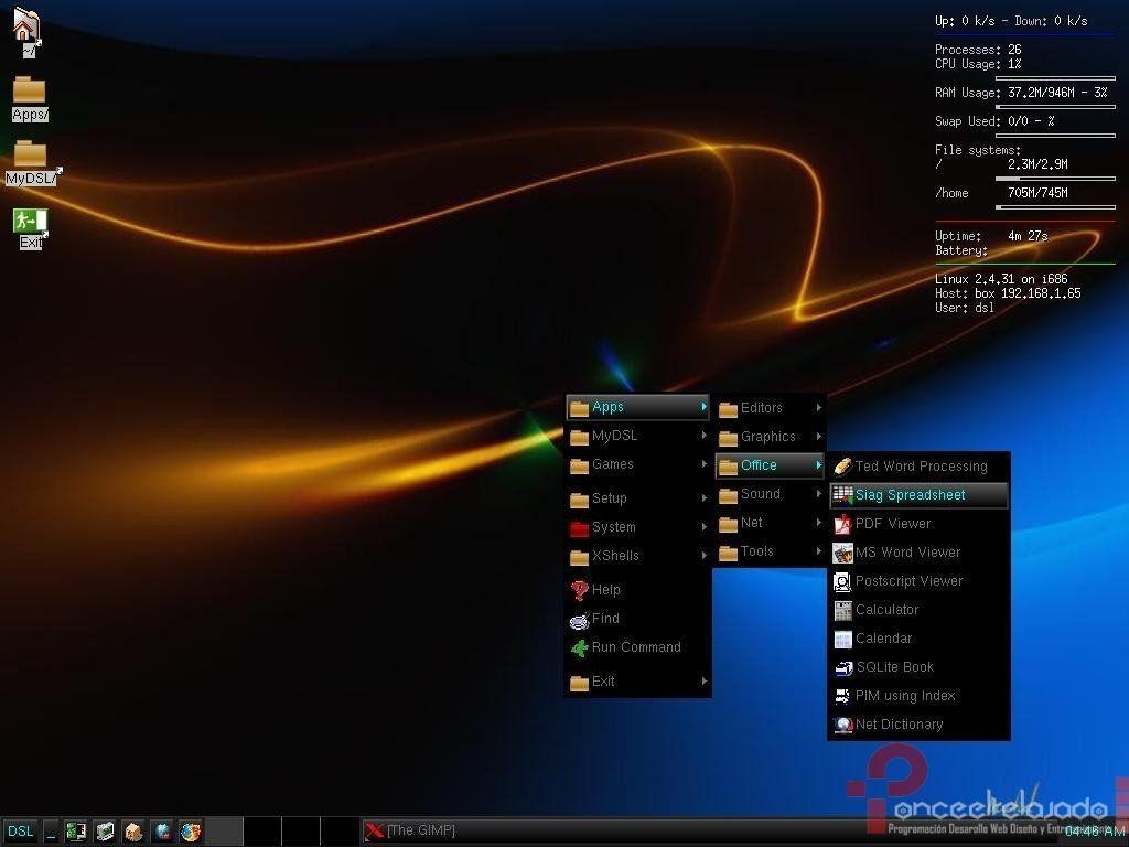 DamnSmallLinux Screenshot
