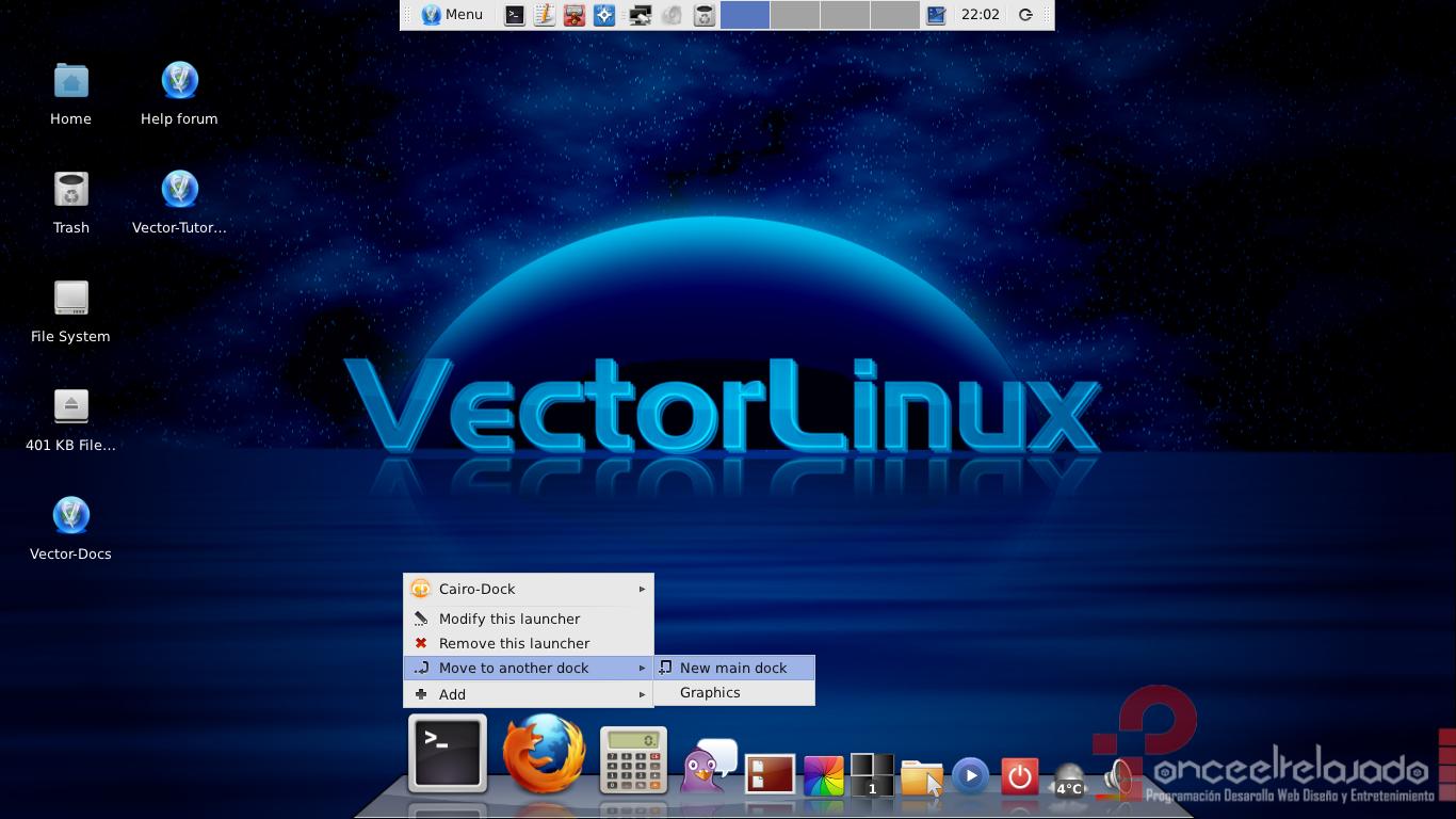 VectorLinux Screenshot