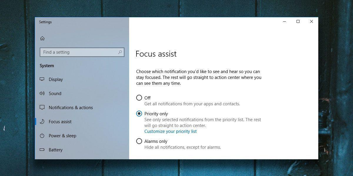 Analizando la última actualización de Windows 10 april 2018 - Focus assist