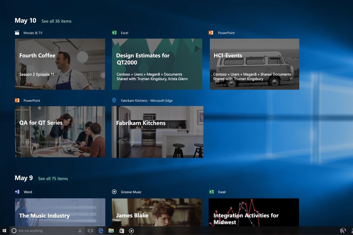 Analizando la última actualización de Windows 10 april 2018 - Timeline